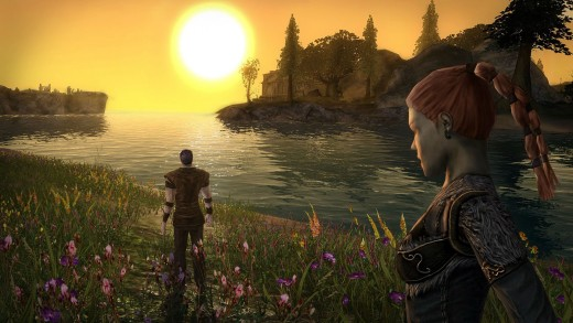 Darkfall sunset